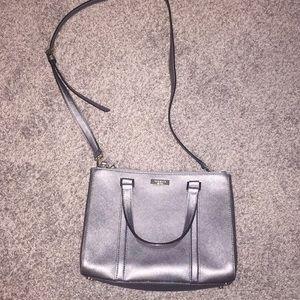 Kate spade silver crossbody purse